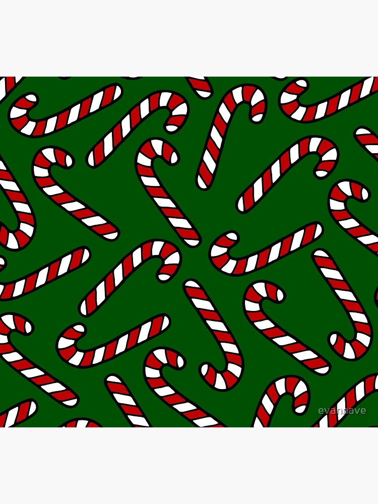 Candy Cane Pattern Dark Green by evannave