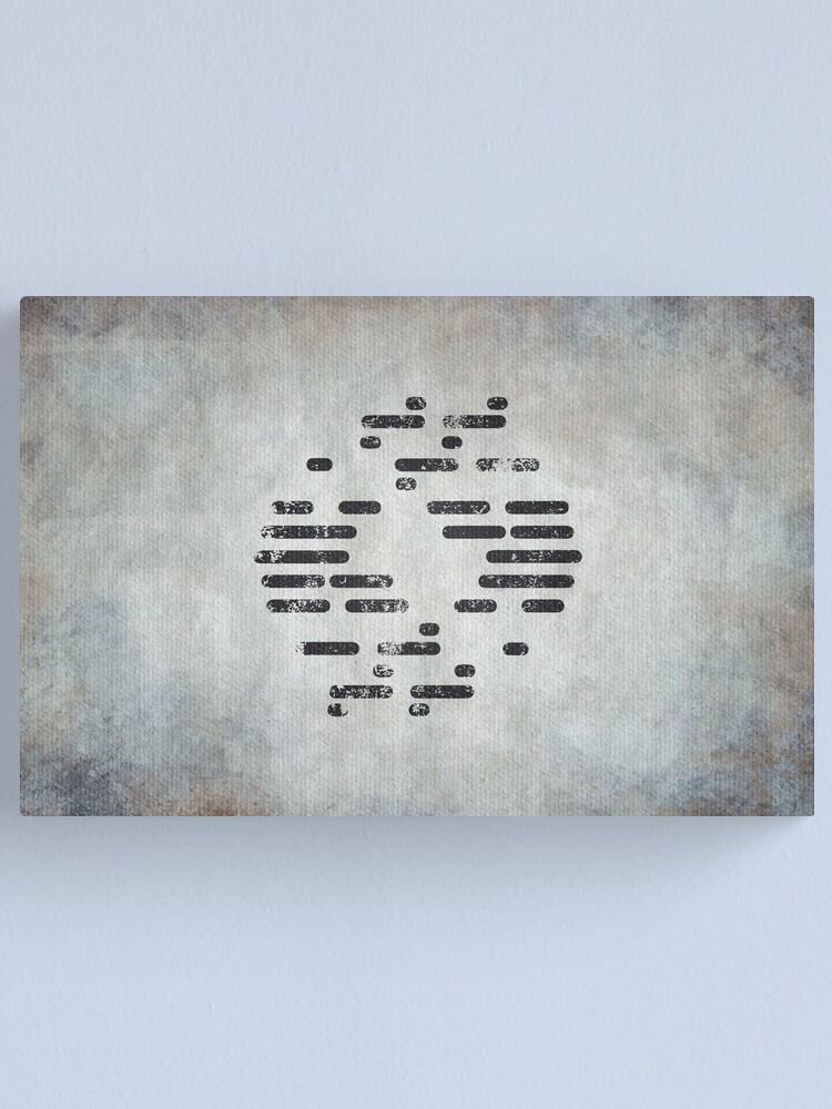 Alternate view of Bureau of Genetic Welfare Logo · Distressed Canvas Print
