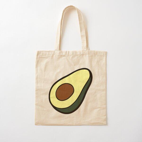 Avocado Pattern Cotton Tote Bag