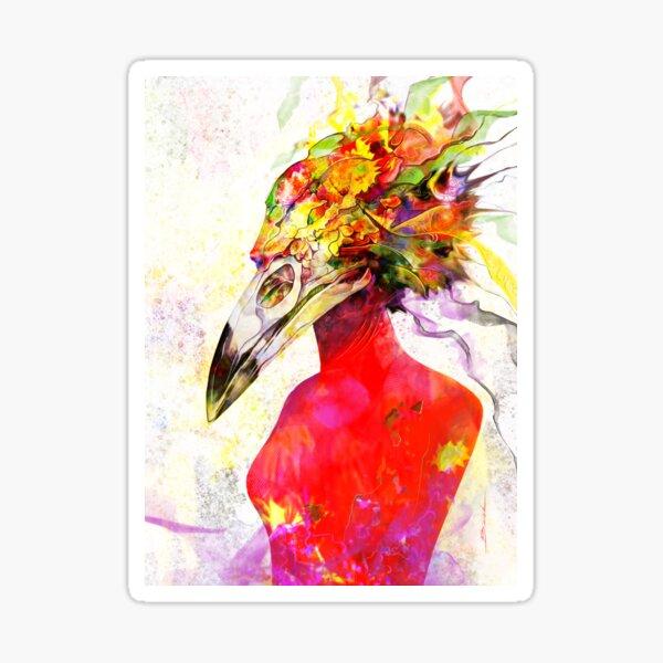 """""""164. Bird skull - 11.08.2019"""" Sticker"""