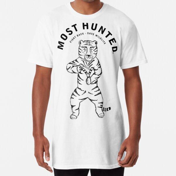 MOST HUNTED TIGER SAVE WILDLIFE  Long T-Shirt