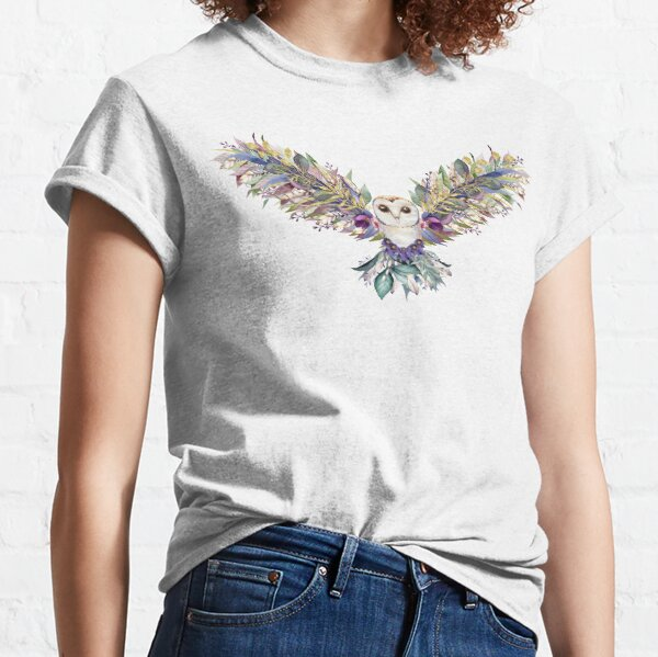 Floral Owl Classic T-Shirt