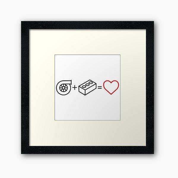 Volvo Turbo Brick Love  Framed Art Print