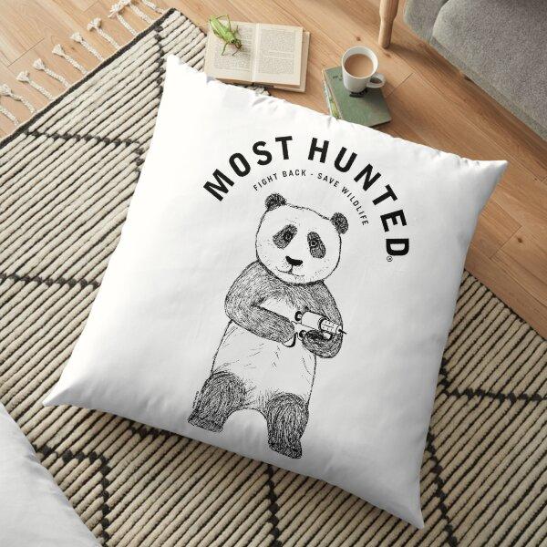 MOST HUNTED PANDA BEAR SAVE WILDLIFE Floor Pillow