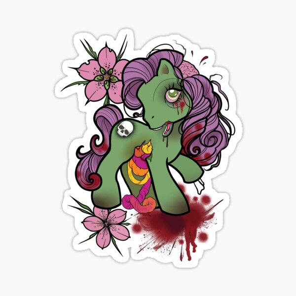 Gumdrop Guts! My Little Zombie Sticker