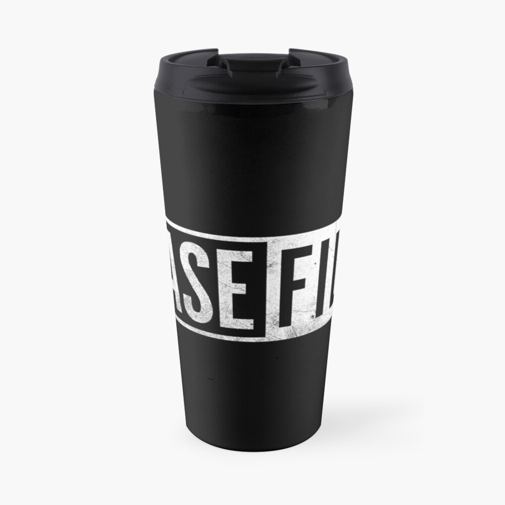 Casefile True Crime – Casefile Logo (Light) Travel Mug