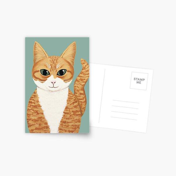 Orange Tabby Cat Postcard
