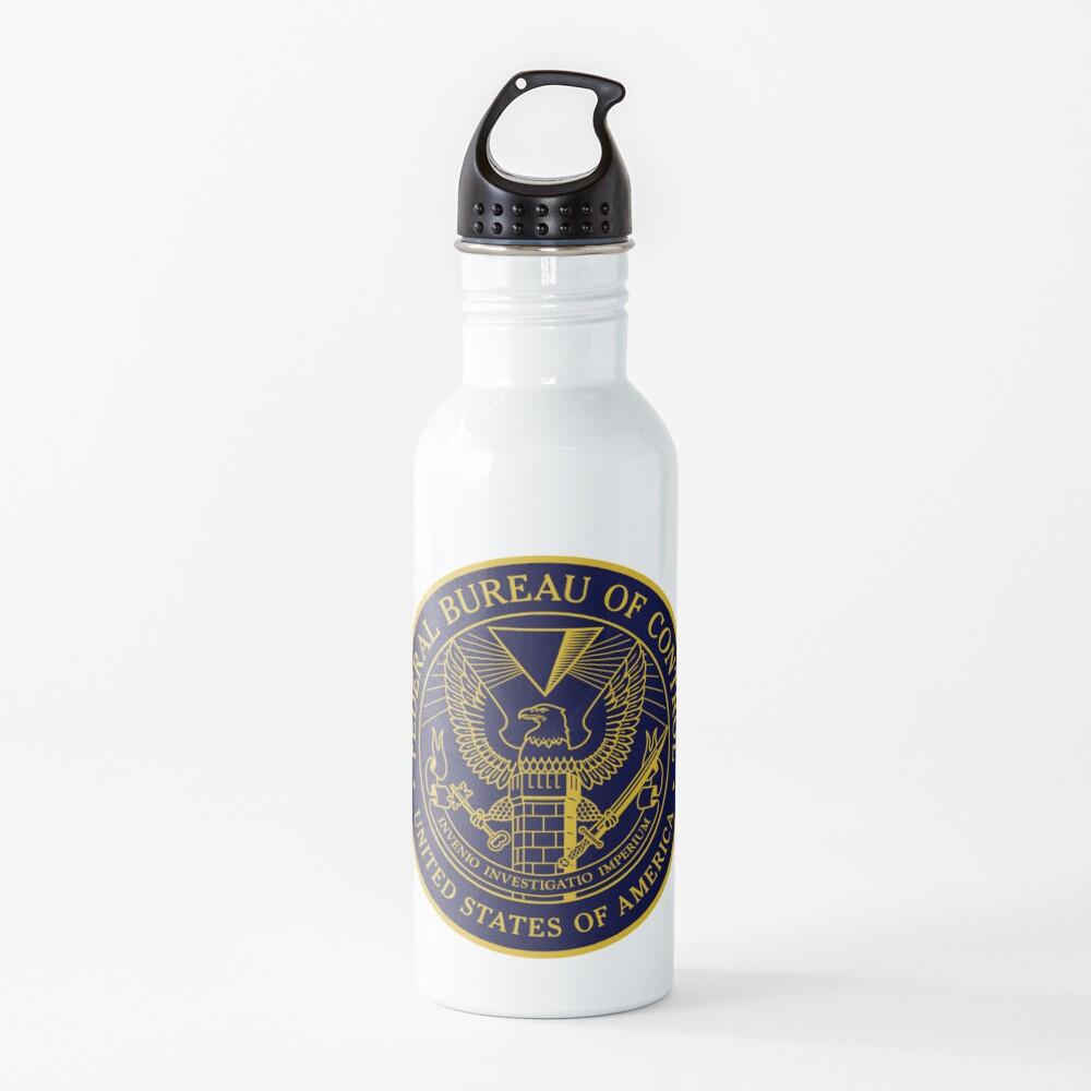 Federal Bureau of Control | Control Game Logo | Clean Logo Water Bottle