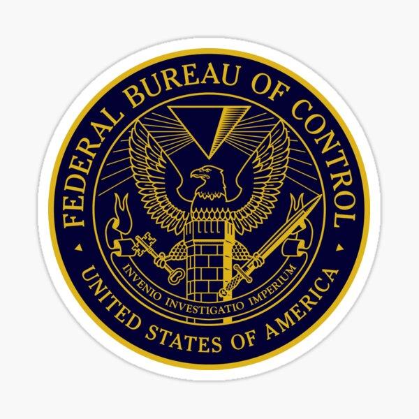 Federal Bureau of Control | Control Game Logo | Clean Logo Sticker