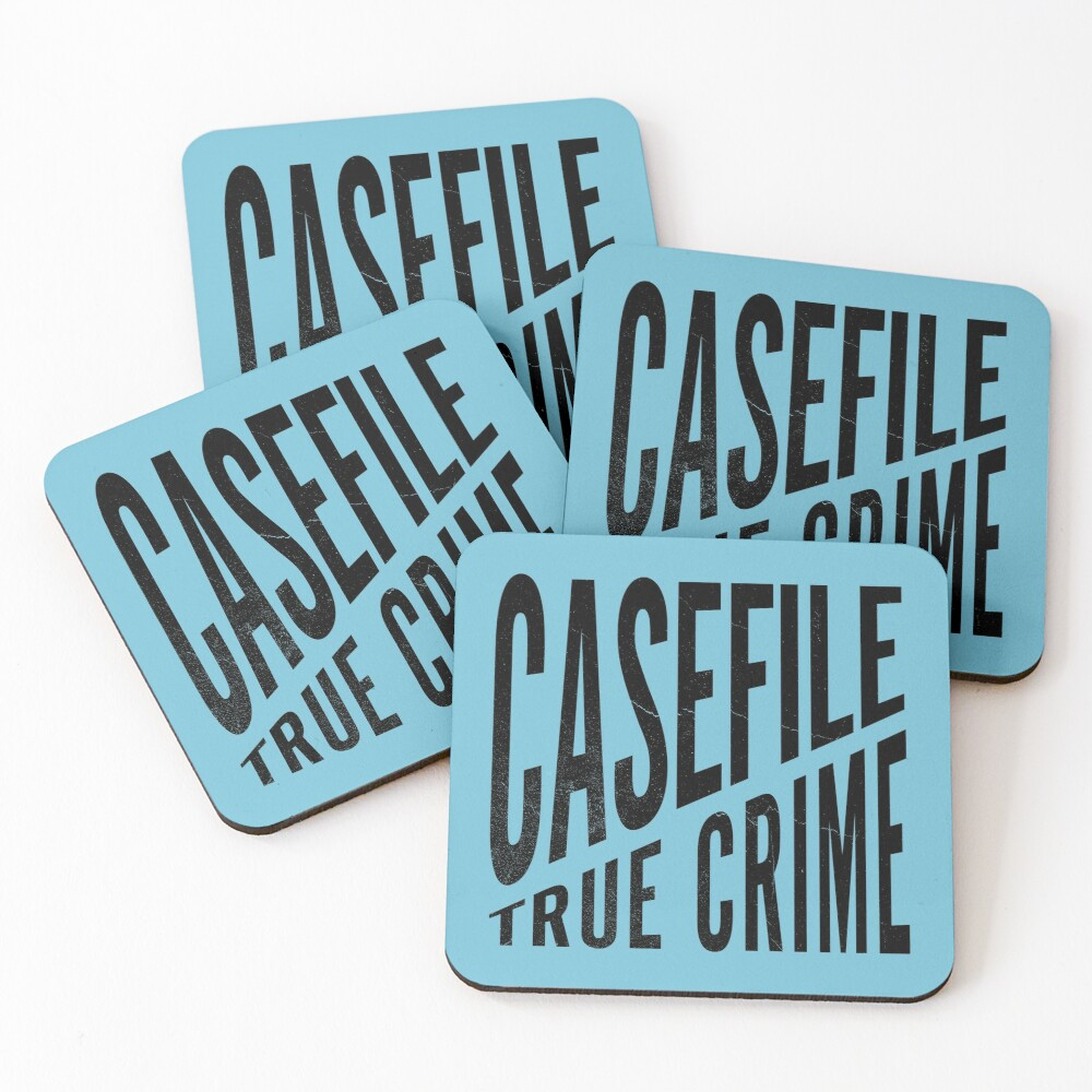 Casefile True Crime – CFTC (Dark) Coasters (Set of 4)