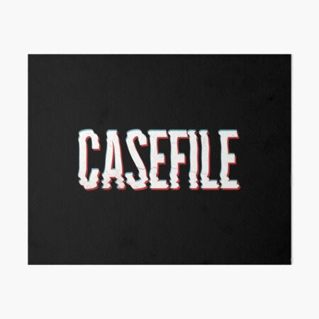 Casefile True Crime – Casefile Blurred Art Board Print