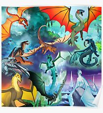 Wings of fire all dragons Poster