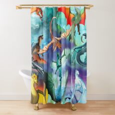 Wings of fire all dragons Shower Curtain