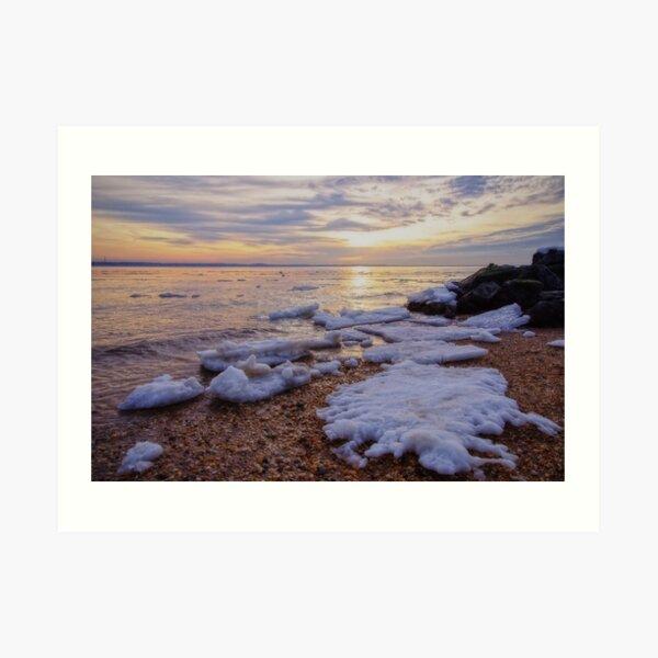 A Cold Sandy Hook Winter Art Print