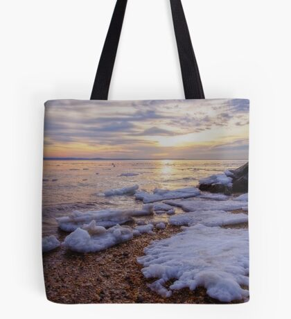 A Cold Sandy Hook Winter Tote Bag