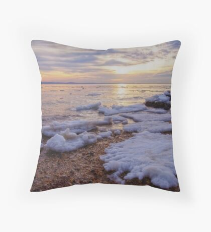 A Cold Sandy Hook Winter Throw Pillow