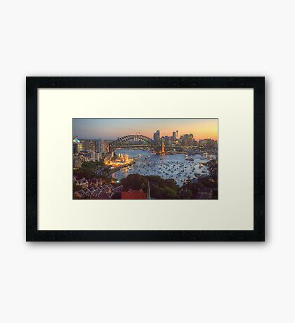 Glitter - Sydney Harbour, Sydney  Australia - The HDR Experience Framed Print