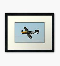 Mustang fighter plane Framed Print