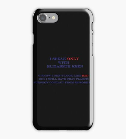 Elizabeth Keen & Surgeon  iPhone Case/Skin