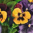 Pansies Pencil Sketch by Chris Neal