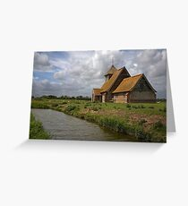 The church at Fairfield, Romney Marsh, Kent Greeting Card