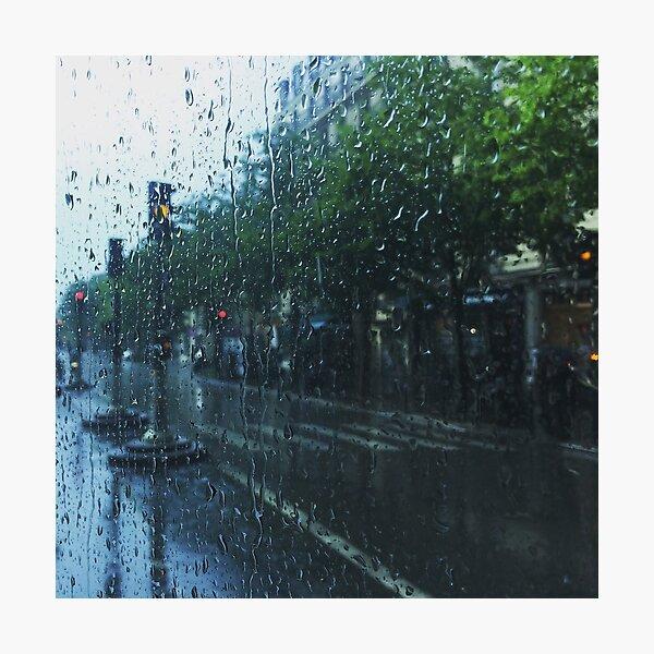 Paris: Riding the Bus in the Rain Photographic Print