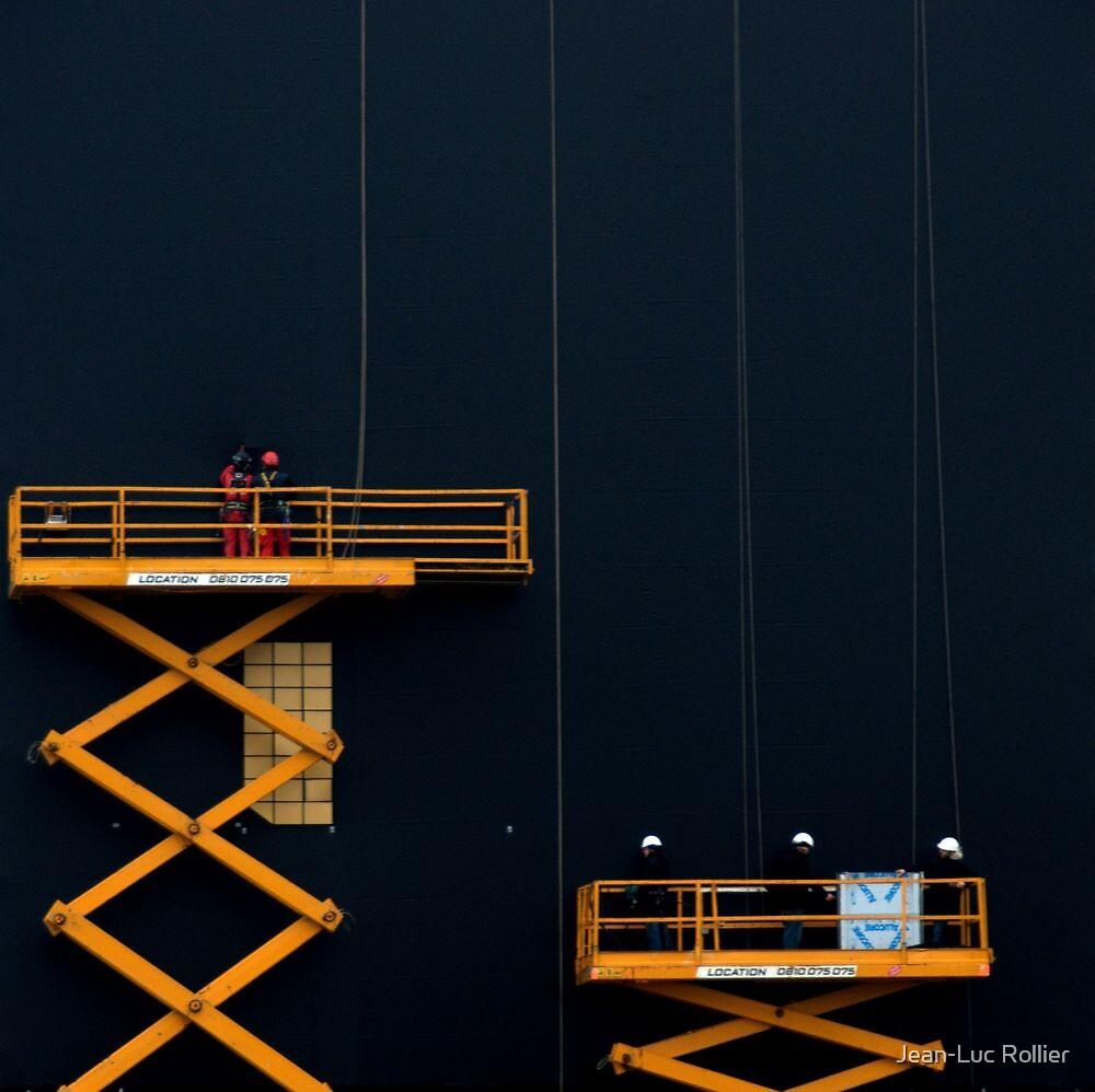 Paris - Men at Work by Jean-Luc Rollier