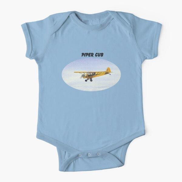 Piper J-3 Cub Short Sleeve Baby One-Piece