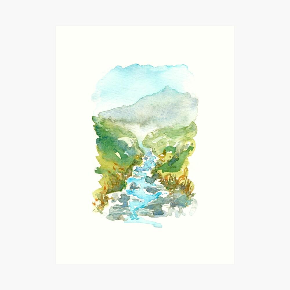 Feeling the mountain stream freshness Art Print