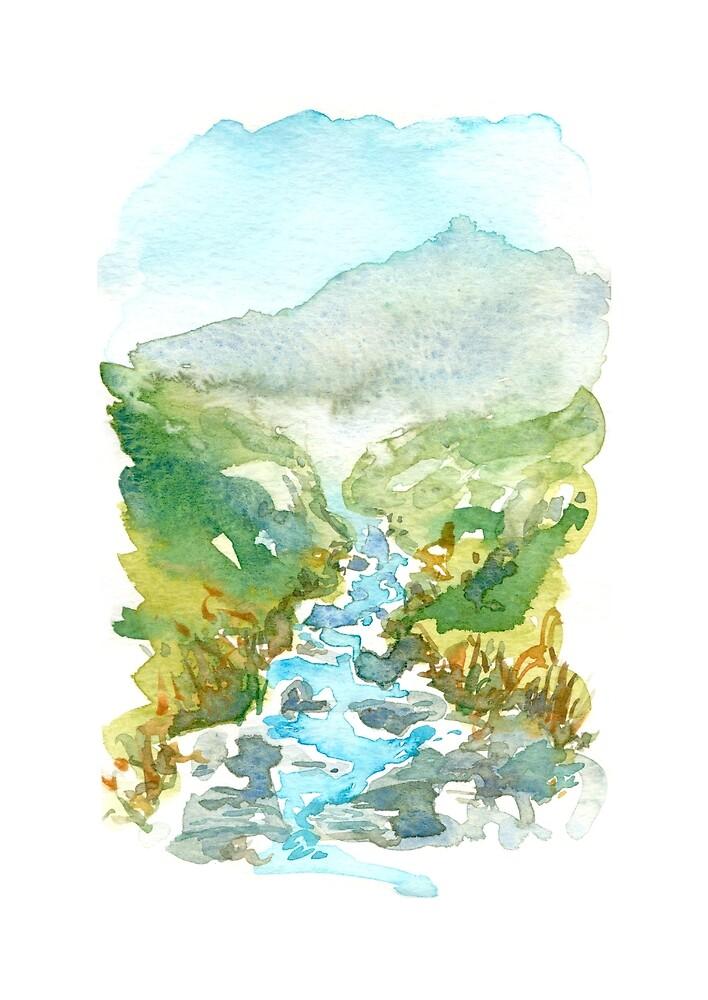 Feeling the mountain stream freshness by MaiuArt