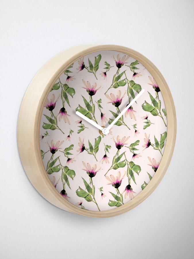 Alternative Ansicht von Rosa Romantik blühen Uhr