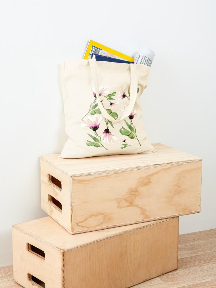 Alternative Ansicht von Rosa Romantik blühen Stofftasche