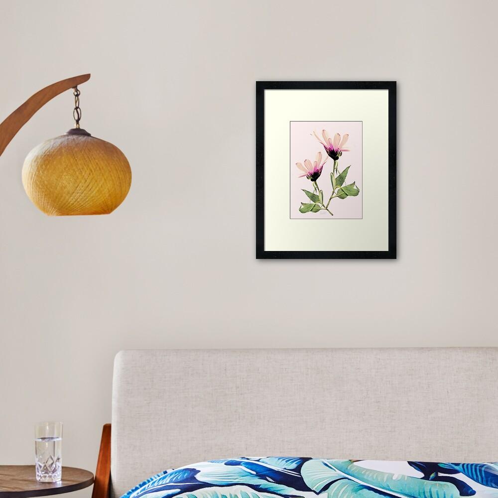 Bloom Romantik Framed Art Print