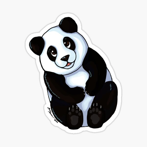 Cuddle Panda Sticker
