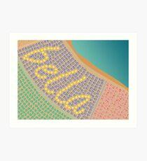 Bella / Beautiful Italy Beach Umbrellas - Aerial Italian Art Print