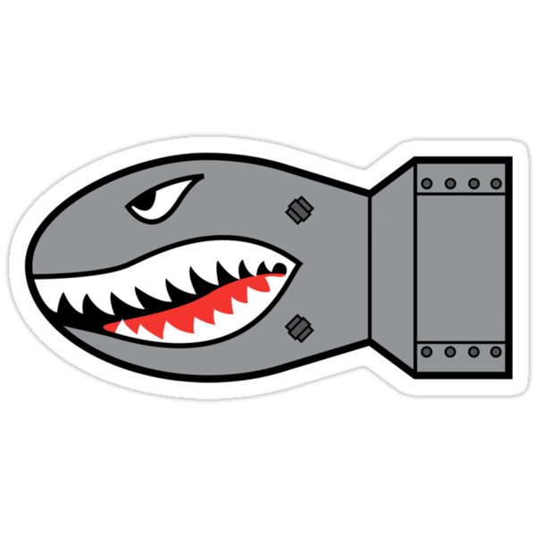 Quot Shark Bomb Quot Stickers By Netliquid Redbubble