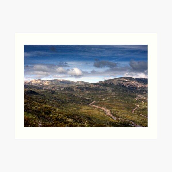 Mt Kosciuszko HDR Art Print
