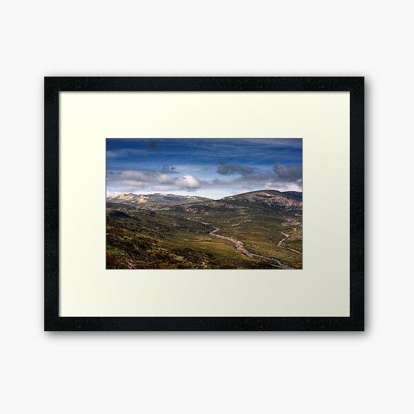 Mt Kosciuszko HDR Framed Art Print