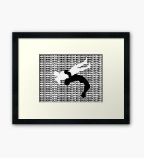 Mixed Martial Arts Freestyle Wrestling Suplex MMA  Framed Print