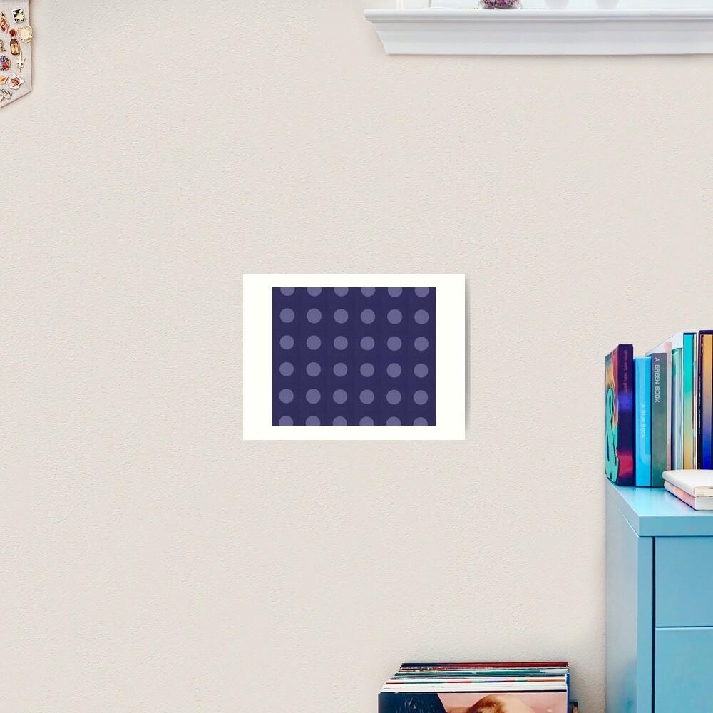 Slate Gray Blanket Art Print