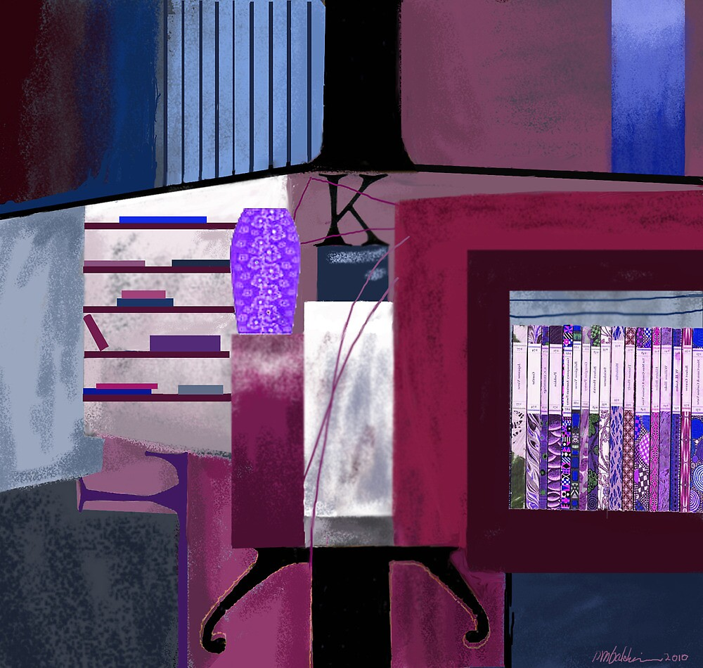 """At the Library"" - Abstract realism by Patrice Baldwin"