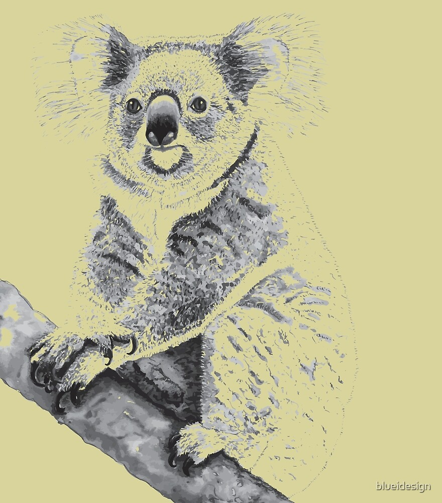 Koala Black and White by blueidesign