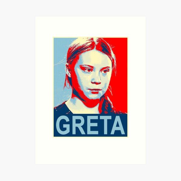 Greta Thunberg Environmental Activist Art Print