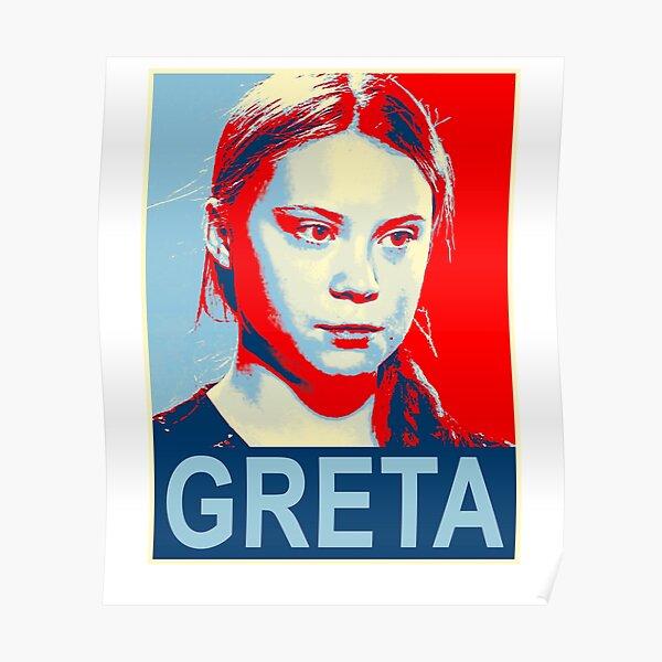 Greta Thunberg Environmental Activist Poster