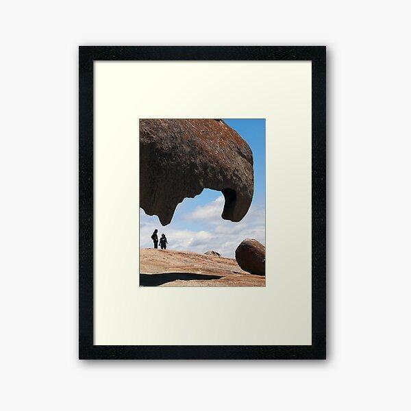 remarkable rocks Framed Art Print