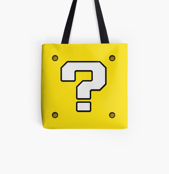 Question Block All Over Print Tote Bag