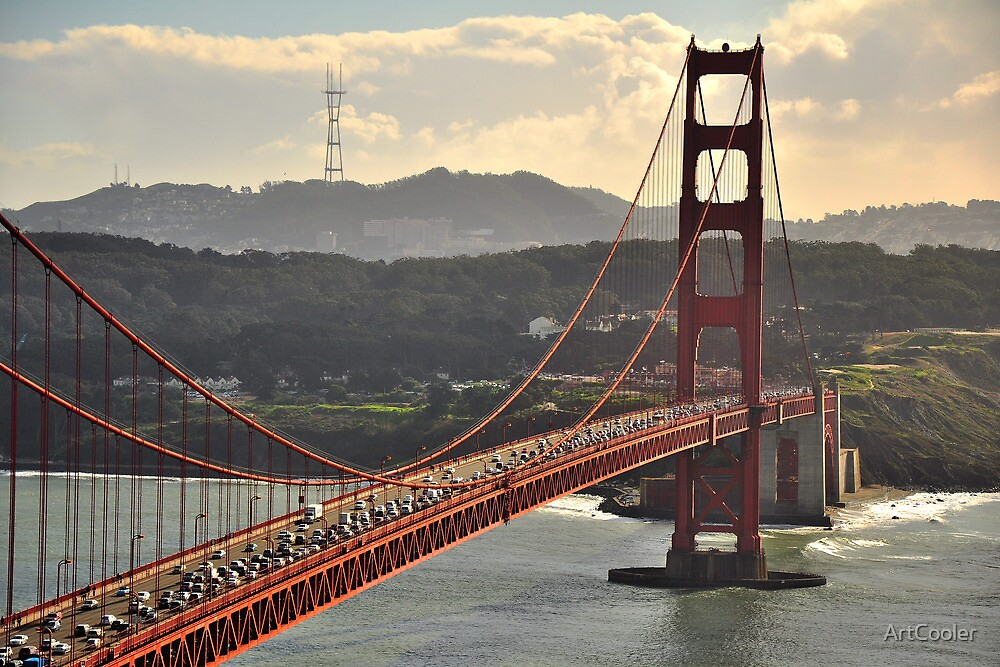 Golden Gate and Twin Peaks by ArtCooler