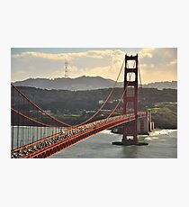 Golden Gate and Twin Peaks Photographic Print