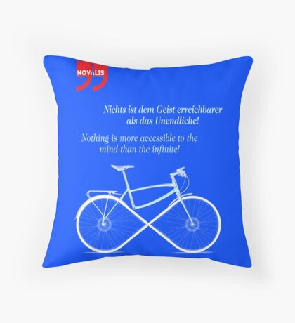 Ride To Infinity (quotation) Throw Pillow