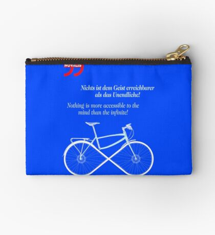 Ride To Infinity (quotation) Zipper Pouch